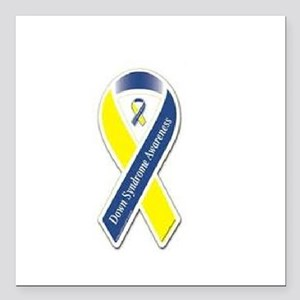 """Down Syndrome Square Car Magnet 3"""" x 3"""""""
