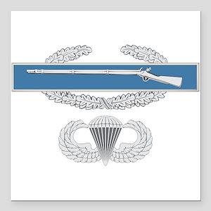"""CIB Airborne Square Car Magnet 3"""" x 3"""""""