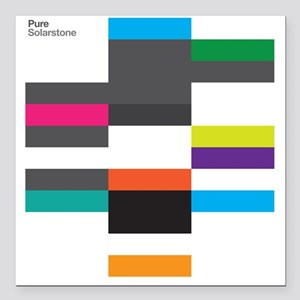 "Solarstone 'Pure' Cover Art Square Car Magnet 3"" x"