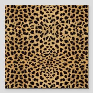 """Cheetah Animal Print cop Square Car Magnet 3"""" x 3"""""""