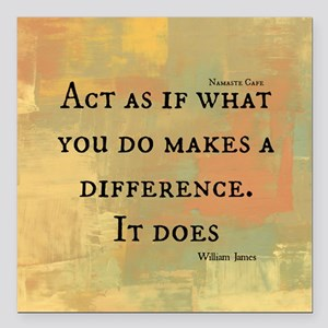 """You Make a Difference Square Car Magnet 3"""" x 3"""""""