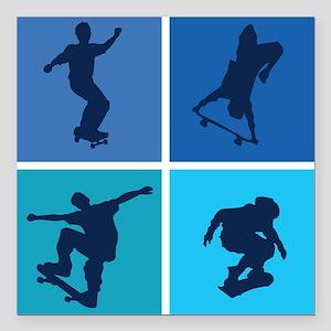 "skateboarding3 Square Car Magnet 3"" x 3"""