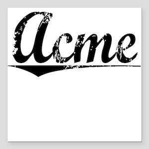 """Acme, Vintage Square Car Magnet 3"""" x 3"""""""