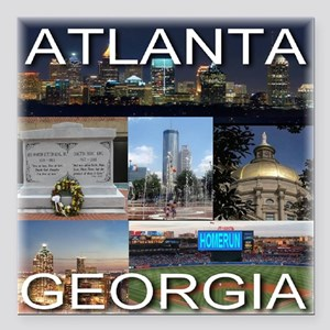 "ATLANTAGEORGIA_TAL_COLLA Square Car Magnet 3"" x 3"""