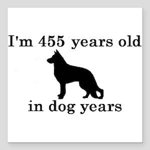 65 birthday dog years german shepherd black 2 Squa