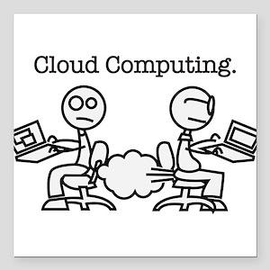 "Cloud Computing Square Car Magnet 3"" x 3"""