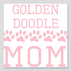 "Goldendoodle Mom Square Car Magnet 3"" x 3"""