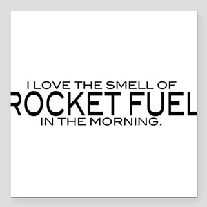 "Rocket Fuel Square Car Magnet 3"" x 3"""