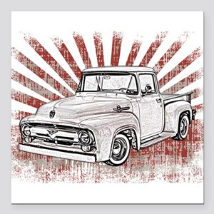 """1956 Ford Truck Square Car Magnet 3"""" x 3"""""""