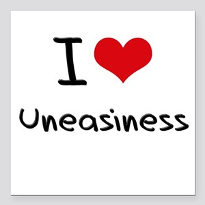 "I love Uneasiness Square Car Magnet 3"" x 3"""
