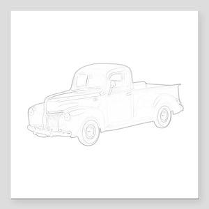 "Ford Pickup 1940 Square Car Magnet 3"" x 3"""