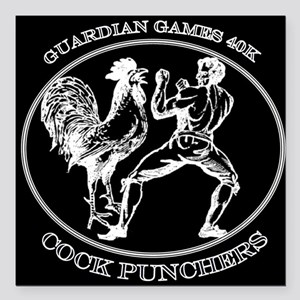 Guardian Games 40K Cock Punchers Square Car Magnet