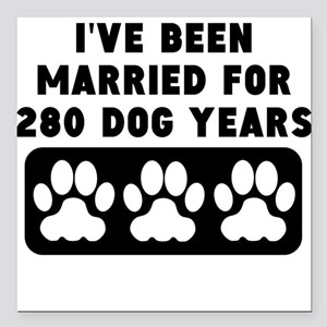 "40th Anniversary Dog Years Square Car Magnet 3"" x"