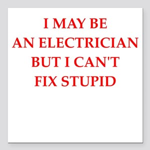 """electrician Square Car Magnet 3"""" x 3"""""""