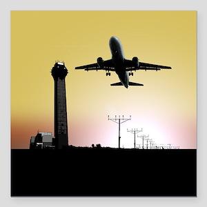 ATC: Air Traffic Control Tower & Plane Square Car