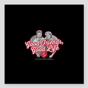 """Lucy and Ethel:Good Frie Square Car Magnet 3"""" x 3"""""""