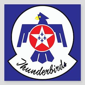 "U.S. Air Force Thunderbi Square Car Magnet 3"" x 3"""
