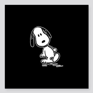 "Peanuts Snoopy Square Car Magnet 3"" x 3"""