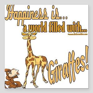 "HappinessGiraffes copy Square Car Magnet 3"" x"
