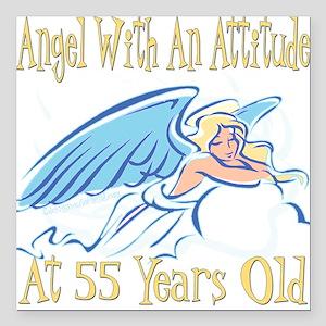 """AngelAttitude55 Square Car Magnet 3"""" x 3"""""""