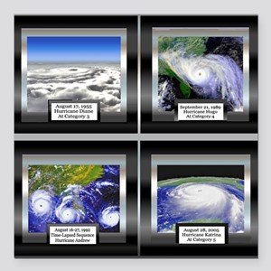 "HurricaneTile Square Car Magnet 3"" x 3"""