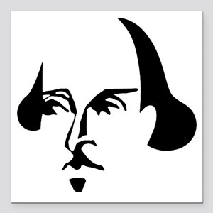 "shakespeare-simple Square Car Magnet 3"" x 3"""