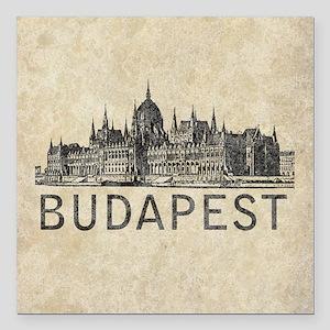 """Budapest Square Car Magnet 3"""" x 3"""""""
