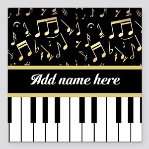 Personalized Piano and musical notes Square Car Ma