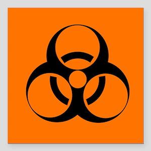 Biohazard sign - Square Car Magnet 3