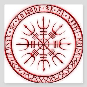 Aegishjalmur: Viking Protection Rune Square Car Ma