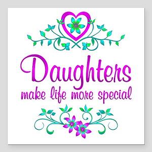 "Special Daughter Square Car Magnet 3"" x 3"""