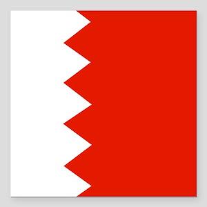 "Square Bahrain Flag Square Car Magnet 3"" x 3"""