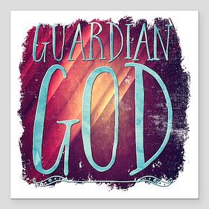 "Guardian God Square Car Magnet 3"" x 3"""