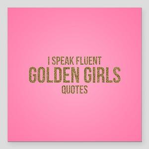 "Golden Girls - Fluent Qu Square Car Magnet 3"" x 3"""