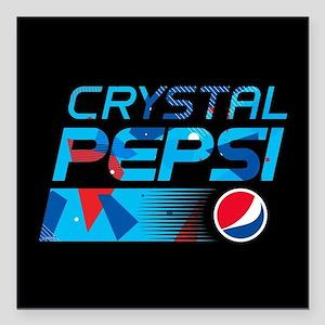 "Crystal Pepsi Pattern Square Car Magnet 3"" x 3"""