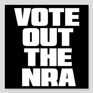 """VOTE OUT THE NRA Square Car Magnet 3"""" x 3"""""""