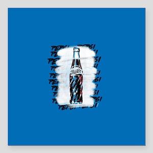 "PepsiBottle Square Car Magnet 3"" x 3"""