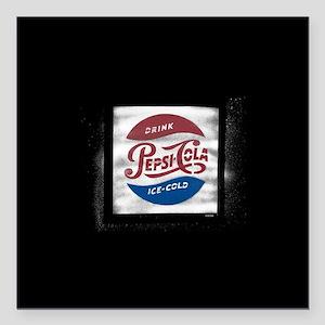 """Pepsi-Cola Ice Cold Square Car Magnet 3"""" x 3"""""""