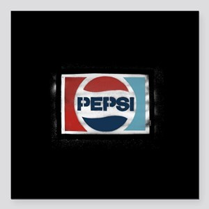 """Pepsi Logo Square Car Magnet 3"""" x 3"""""""