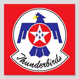 "Air Force Thunderbirds Square Car Magnet 3"" x 3"""