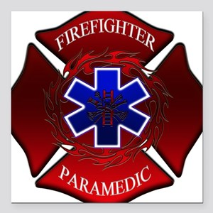 FIREFIGHTER-PARAMEDIC Square Car Magnet