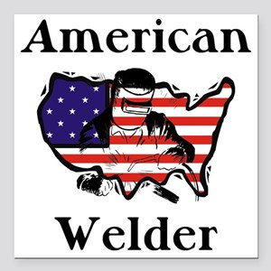 Welder Square Car Magnet