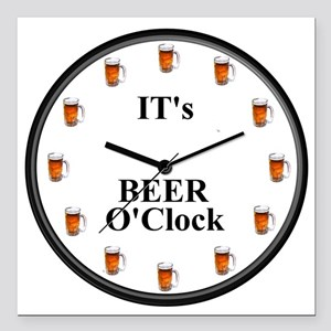 Its Beer O'Clock Square Car Magnet