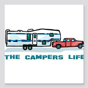 The campers life Square Car Magnet