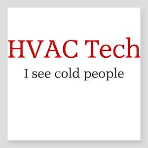 HVAC Square Car Magnet