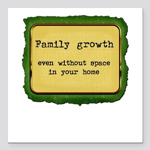 FamilyGrowth Square Car Magnet