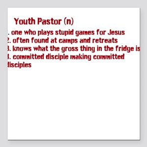 Youth Pastor Definition Square Car Magnet