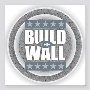 """Build the Wall Square Car Magnet 3"""" x 3"""""""