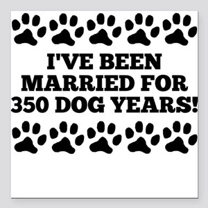 """50th Anniversary Dog Years Square Car Magnet 3"""" x"""