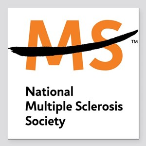 """National MS Society Square Car Magnet 3"""" x 3"""""""